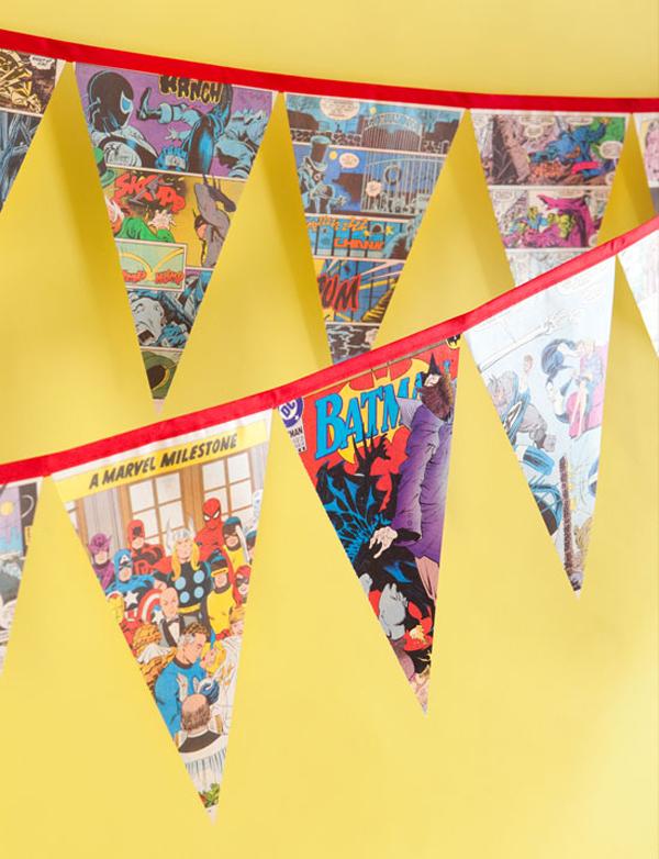 Girlanden f r den superhelden kindergeburtstag - Girlande babyzimmer ...