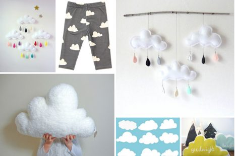 wolken deko baby. Black Bedroom Furniture Sets. Home Design Ideas