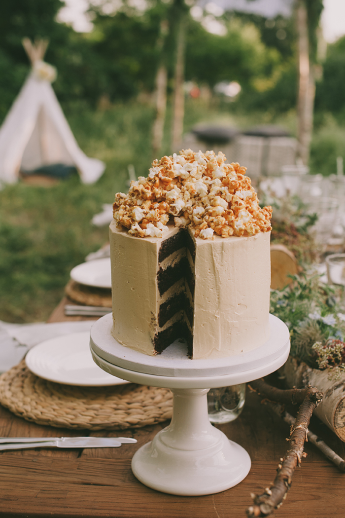 Popcorn Torte Hochzeit