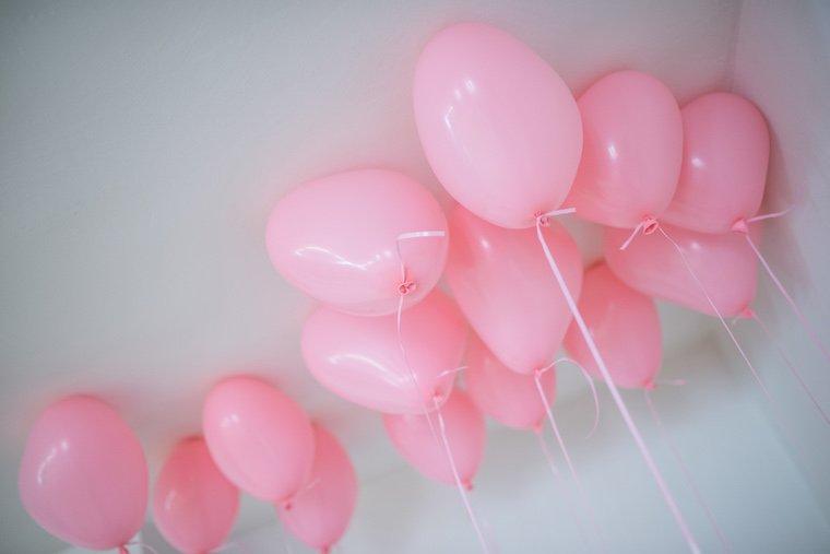 Rosa Luftballons Kindergeburtstag