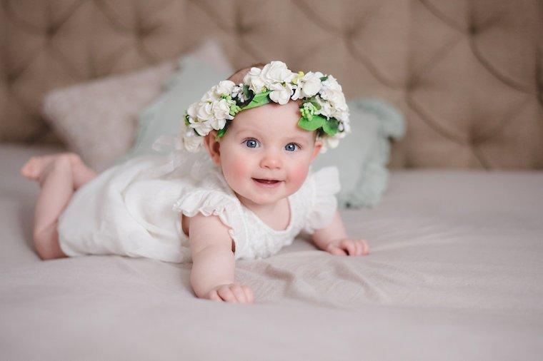 Babyfotos mit Blumekranz 8