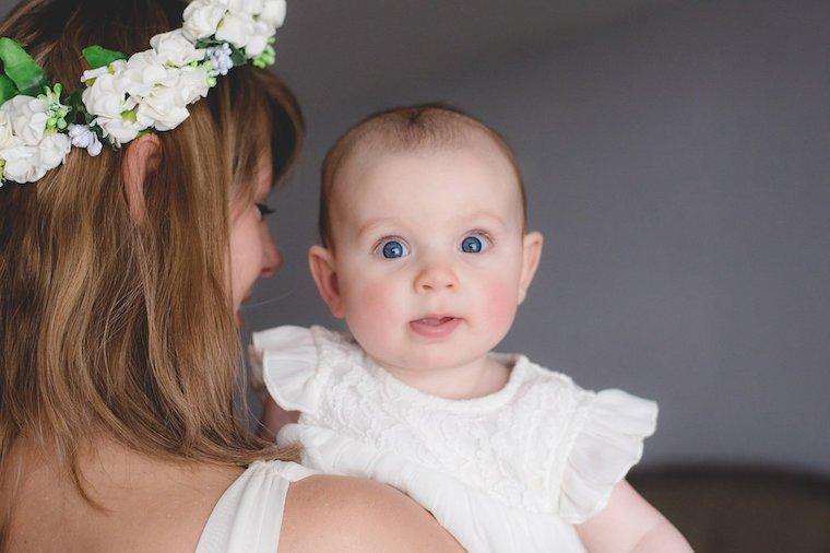 Babyfotos mit Blumenkranz 11