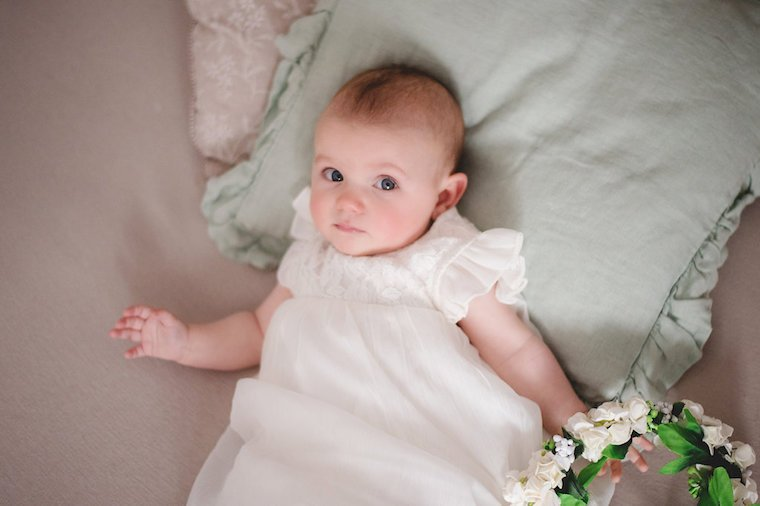 Babyfotos mit Blumenkranz 3