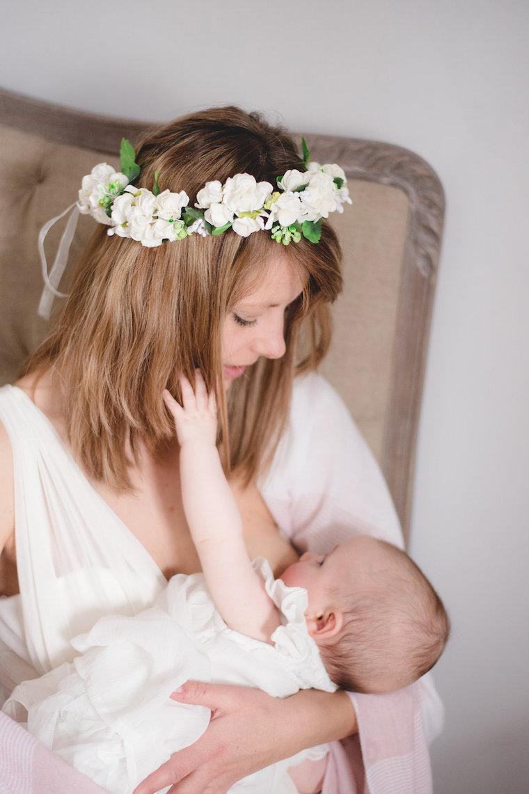 Babyfotos mit Blumenkranz 6