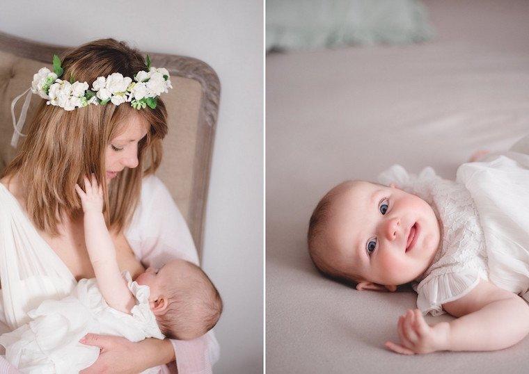 Babyfotos mit Blumenkranz 7