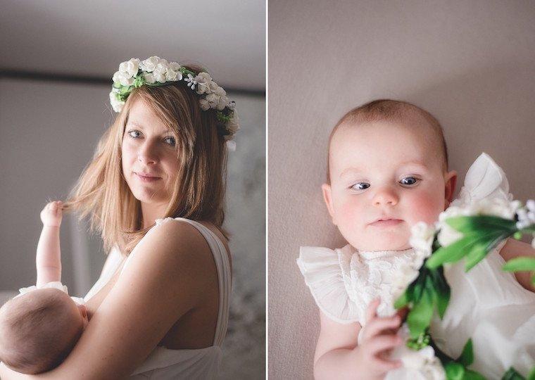 Babyfotos mit Blumenkranz 9