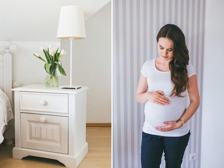 Babybauchfotos zu Hause 11