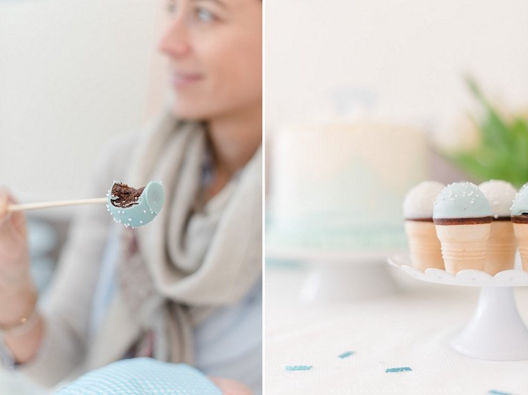 Cakepops Blau Babyparty