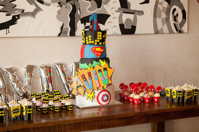 Candytable Superhero Birthday