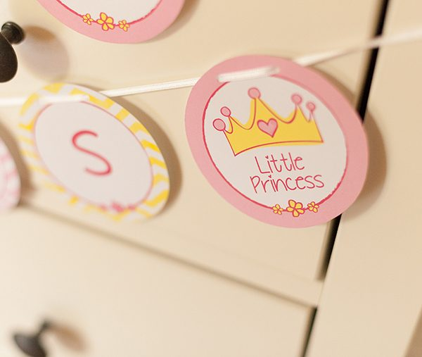Girlande Babyparty Prinzessin (6)