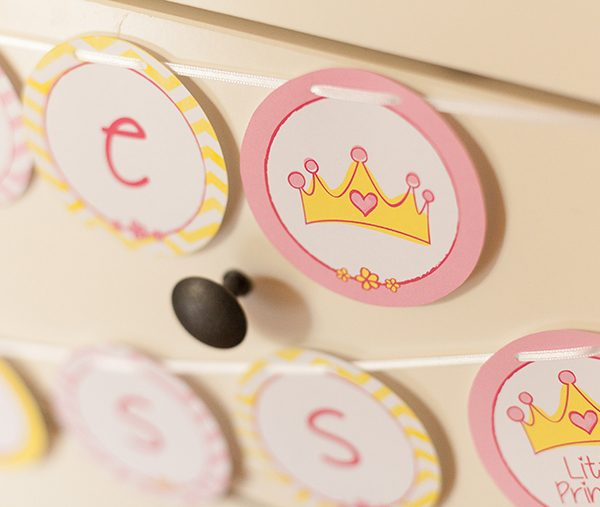 Girlande Babyparty Prinzessin