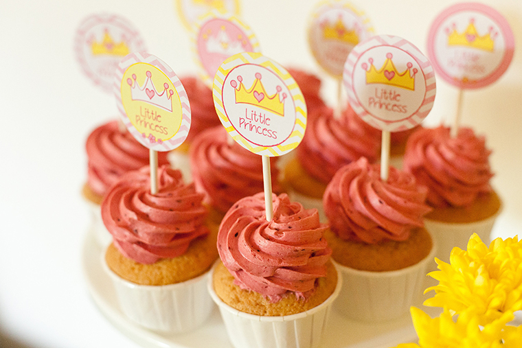 Rosa Cupcakes Babyparty