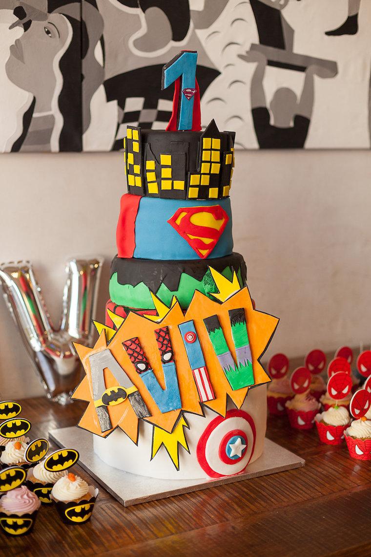 Superhelden Geburtstagstorte