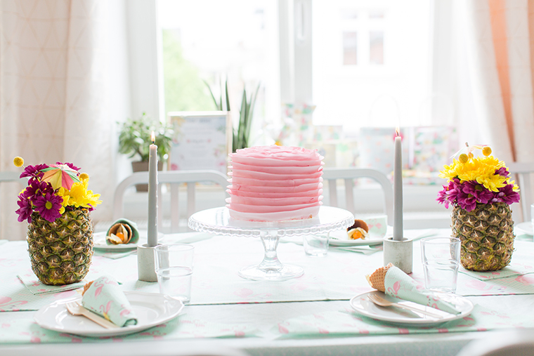 rosa Torte Babyparty