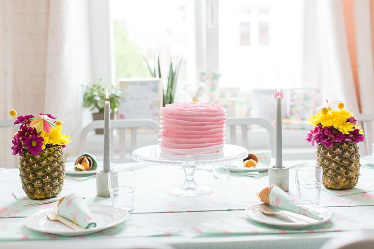 rosa Torte Babyparty