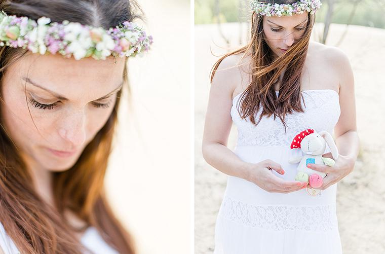 Babybauchfotos mit Blumenkranz (1)