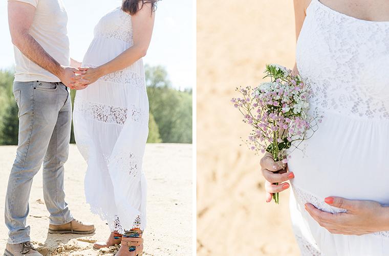 Babybauchfotos mit Blumenkranz (2)