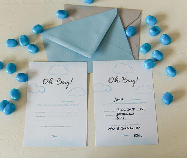 Babyparty Einladung (2)