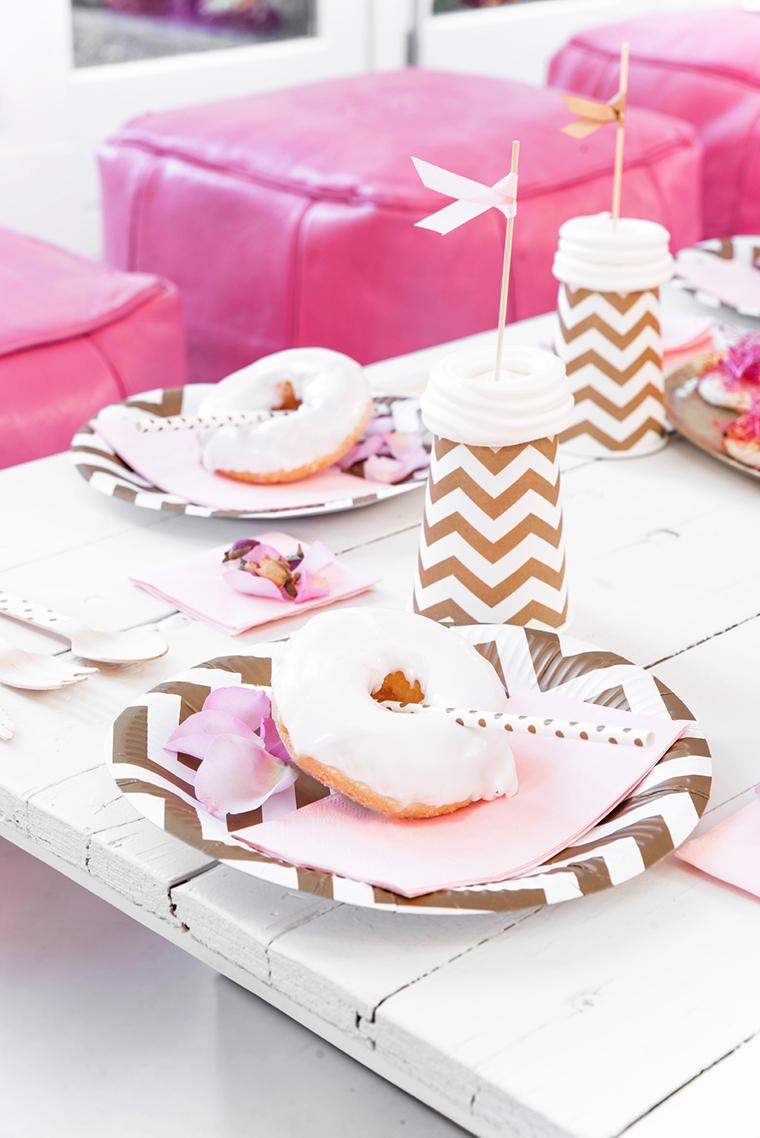 Pinke deko f r die babyparty for Pinke party deko