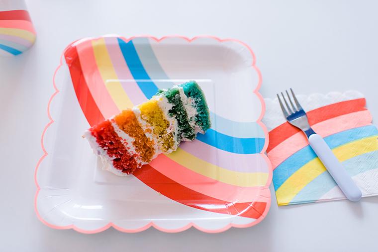 Kindergeburtstag motto regenbogen for Kindergeburtstag pappteller