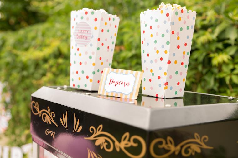 Zirkus Geburtstag Popcorn