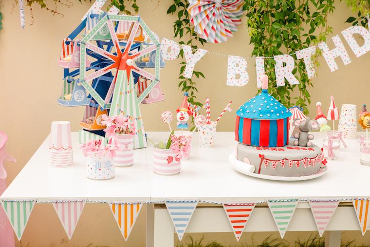 Zirkus Geburtstag Sweet Table