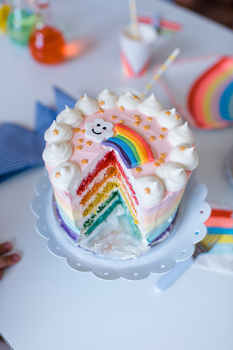 rainbow cake kids birthday