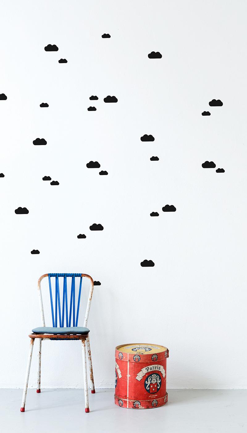 Kinderzimmer Wandaufkleber Wolken