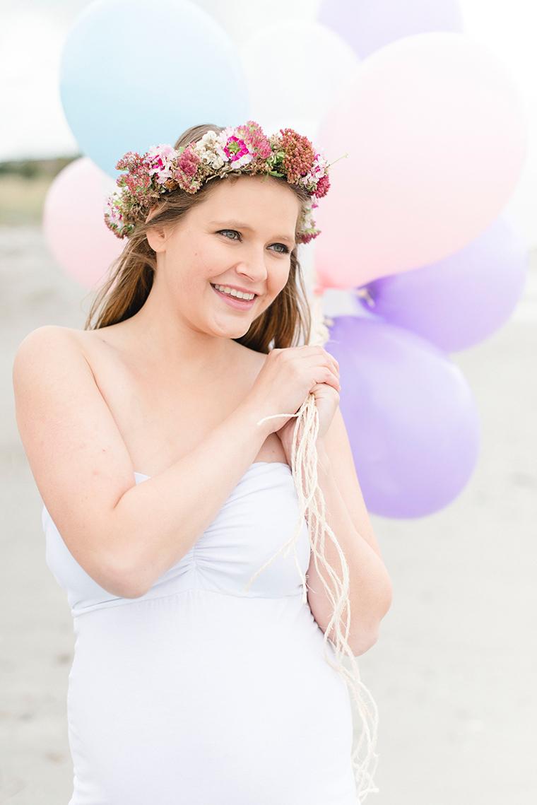 Babybauchbilder mit Luftballons 2