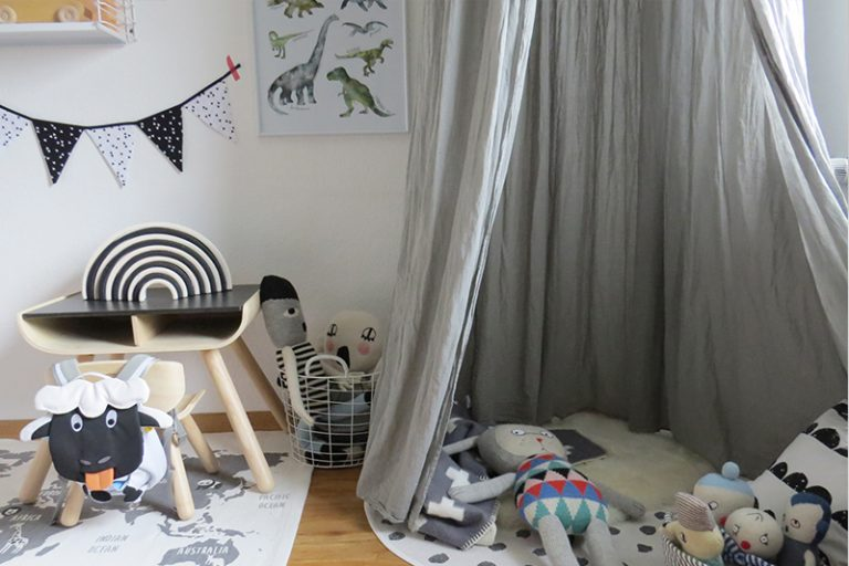 kinderzimmer in grau und wei. Black Bedroom Furniture Sets. Home Design Ideas