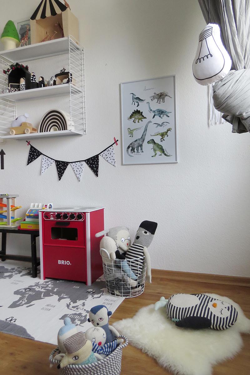 Kinderzimmer in Grau und Schwarz Weiss16