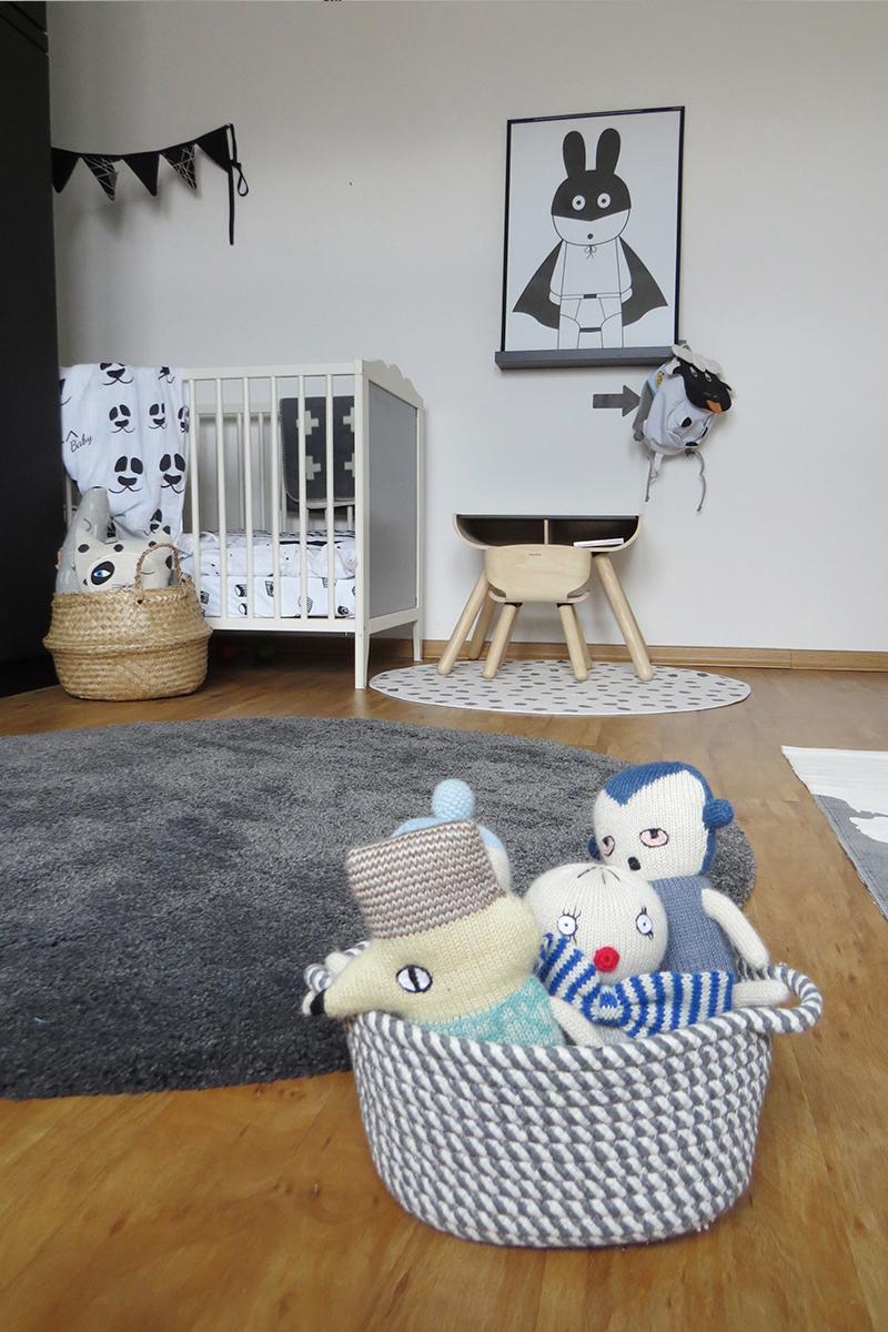 Kinderzimmer in Grau und Schwarz Weiss6