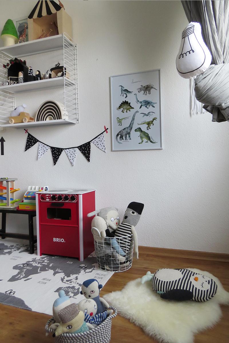 Kinderzimmer in Grau und Schwarz Weiss9