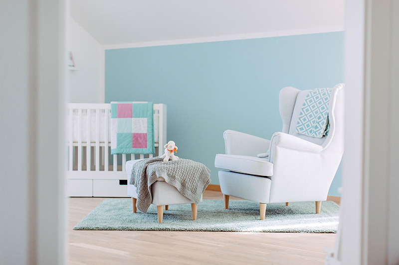 Babyzimmer in Hellblau