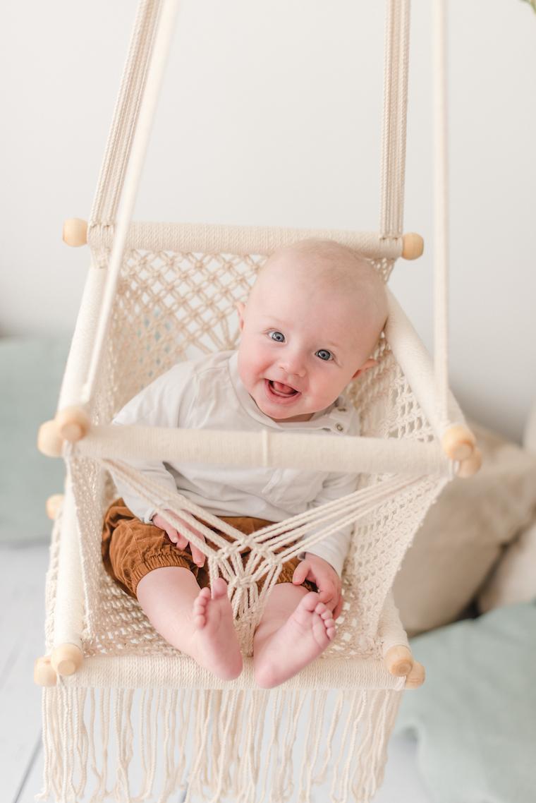 Babyfotos zu Hause