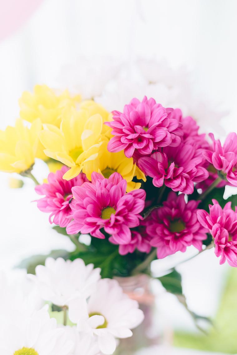 Kindergeburtstag Maedchen Blumen