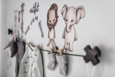 Babyzimmer im skandinavischen Stil