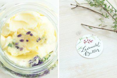 Lavendel-Butter-Gastgeschenk