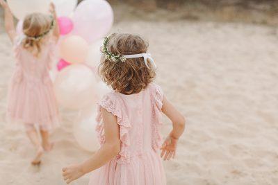 Spaß mit der Luftballon-Girlande