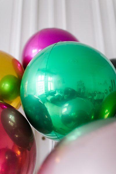 Kugelballon Grün Metallic