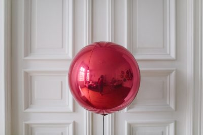 Kugelballon Rot Metallic