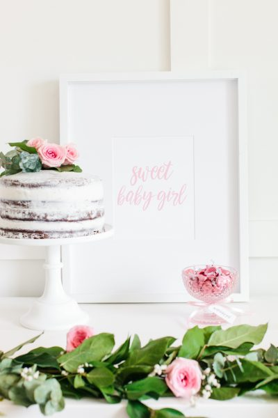 Süße Babyparty Idee