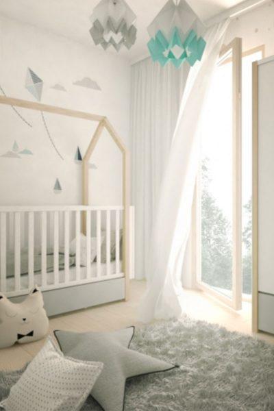 Babyzimmer im Scandi-Stil