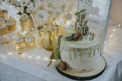 Babyparty in Gold & Mint